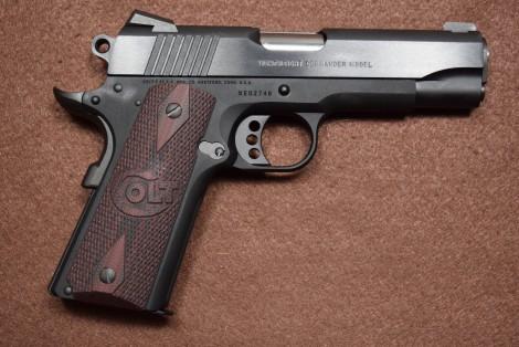 Colt 1911 grips g10 rouge