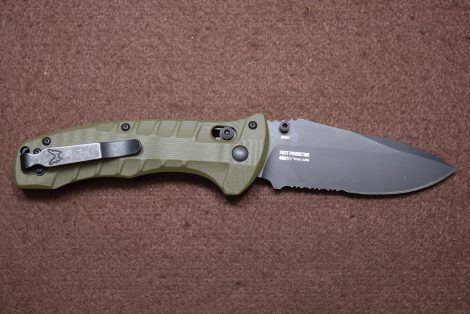 BENCHMADE TURRET AXIS OD GREEN SERR BLK